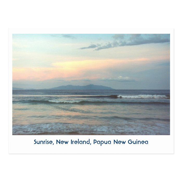 Tropics, Sunrise, Papua New Guinea Postcard