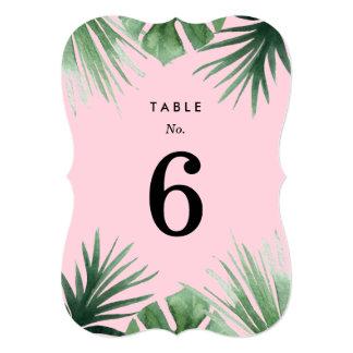 Tropics Table Numbers
