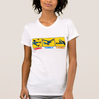 Tropiezo, caída, camiseta del queja