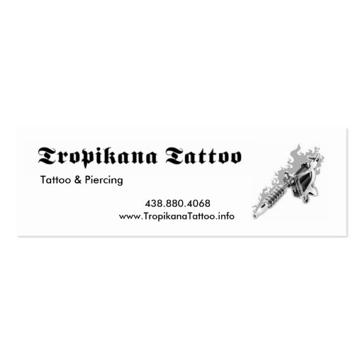 Tropikana tattoo pack of skinny business cards zazzle for Tattoo business card templates