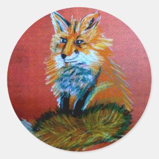 Trote del Fox Etiqueta Redonda