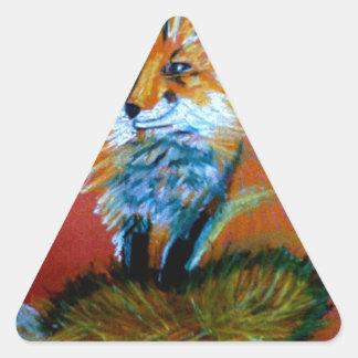 Trote del Fox Pegatina Trianguloada