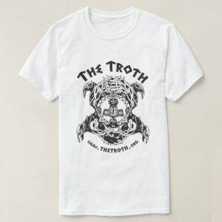Troth B&W Stylized Logo Light Tee