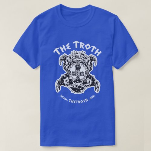 Troth Stylized BW Dark Tee