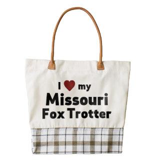 Trotón del Fox de Missouri Bolsa Tote Zazzle HEART