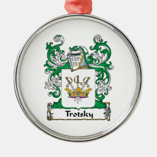 Trotsky Family Crest Round Metal Christmas Ornament