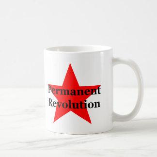 Trotsky: Revolución permanente Taza Básica Blanca