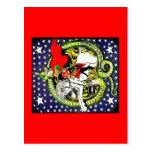 trotsky slaying the counter revolutionary dragon postcards