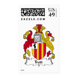 Trott Family Crest Postage Stamps