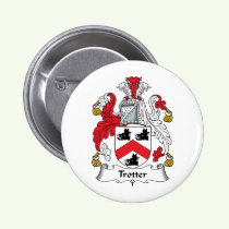 Trotter Family Crest Button