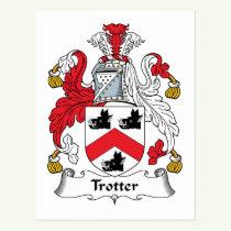 Trotter Family Crest Postcard