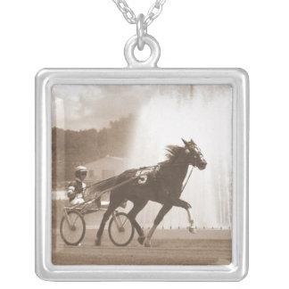 trotter square pendant necklace