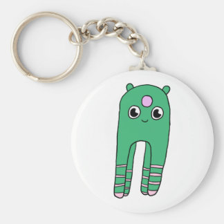 Trotting Along Basic Round Button Keychain