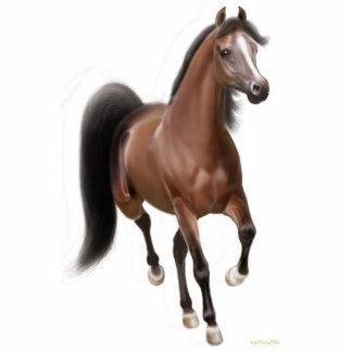 Trotting Arabian Horse Ornament Photo Sculpture Ornament