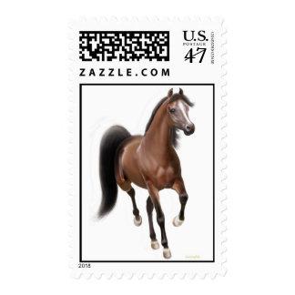 Trotting Arabian Horse Postage