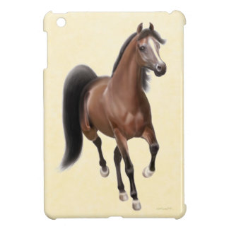 Trotting Bay Arabian Horse iPad Mini Case