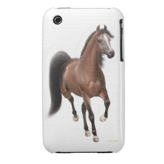Trotting Bay Arabian Horse iPhone 3 Case