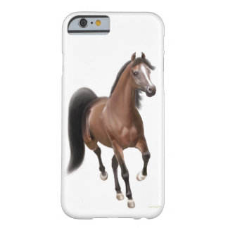 Trotting Bay Arabian Horse iPhone 6 Case
