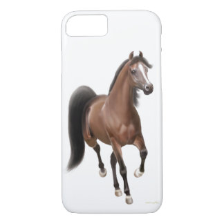 Trotting Bay Arabian Horse iPhone 7 Case