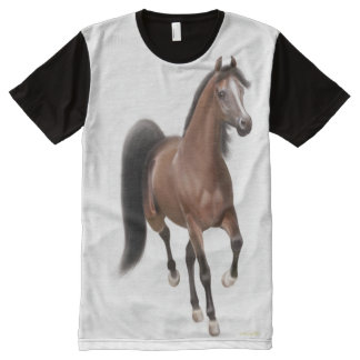 Trotting Bay Arabian Horse Shirt All-Over Print T-shirt