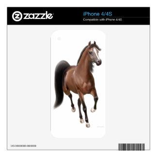 Trotting Bay Arabian Horse Zazzle Skin iPhone 4S Decal