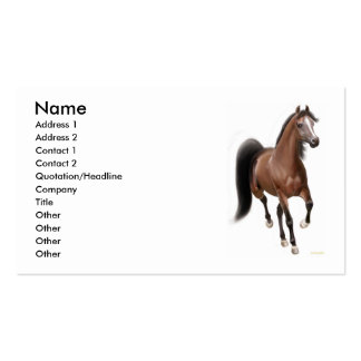 Trotting Bay Horse Business Card