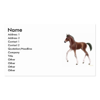 Trotting Foal Profile Card Business Cards