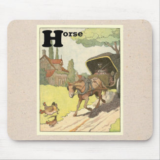 Trotting Horse and Buggy Mouse Pad