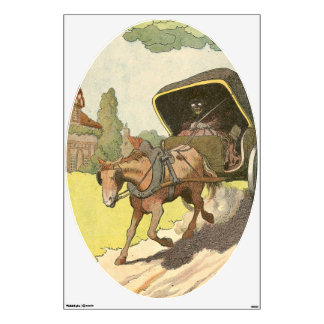 Trotting Horse and Carriage Wall Decal