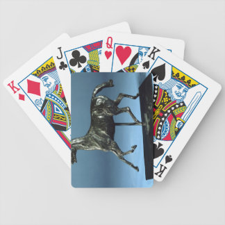 Trotting Horse (bronze) Bicycle Playing Cards