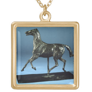 Trotting Horse (bronze) Gold Plated Necklace