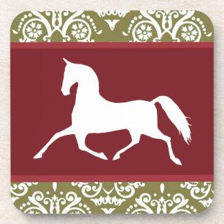 Trotting Horse Holiday Christmas Beverage Coaster