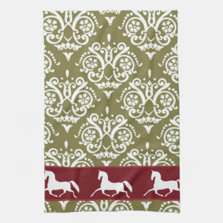 Trotting Horse Holiday Christmas Hand Towel