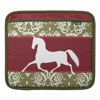 Trotting Horse Holiday Christmas Sleeves For iPads