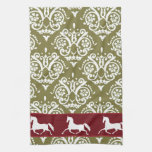 Trotting Horse Holiday Christmas Kitchen Towels