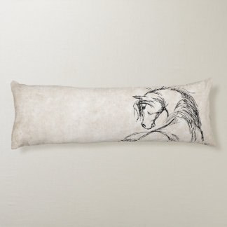 Trotting Horse Holiday Christmas Body Pillow