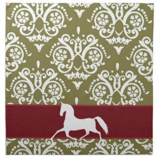 Trotting Horse Holiday Christmas Napkin