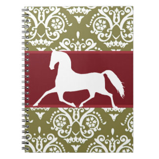Trotting Horse Holiday Christmas Spiral Note Books