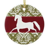 Trotting Horse Holiday Christmas Christmas Tree Ornaments