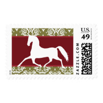 Trotting Horse Holiday Christmas Postage