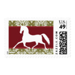 Trotting Horse Holiday Christmas Stamp