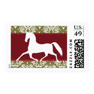 Trotting Horse Holiday Christmas Stamps