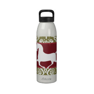 Trotting Horse Holiday Christmas Reusable Water Bottle