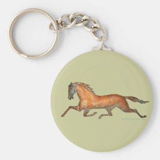 Trotting Horse Keychain