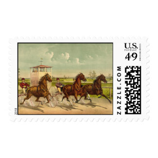 Trotting horses Postage