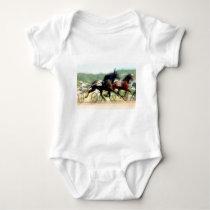trotting power horse racing baby bodysuit