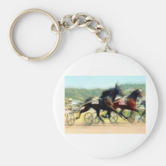trotting power horse racing keychain