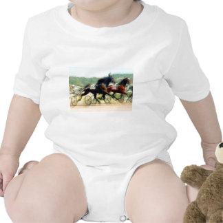 trotting power horse racing romper