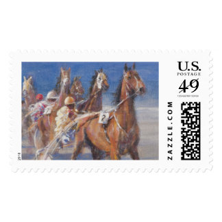 Trotting races Lancieux Brittany 2014 Postage Stamp