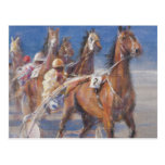 Trotting races Lancieux Brittany 2014 Postcard